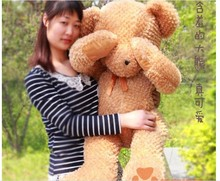 stuffed animal lovely Shy bear plush toy 80 cm light brown  bear doll 31 inch toy s4666