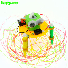 Happyxuan Diy Graffiti Robot Science Experiment Technology Production Puzzle Assembled Creative Handmade Toys