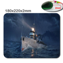HD 3D fast Print  Non-slip world of warship 180mmx220mmx2mm  Choose custom gaming mouse The fashion design Mouse Pad Mousepad