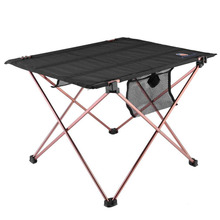 Outdoor Folding Table Aluminium Alloy Picnic Camping Desk Table Roll Up Durable Waterproof Lightweight with Carrying Bag(China)