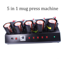 High-Efficiency 5 In 1 Mug/Cup Printing Machine,Manual Mug Press Machine,Heat Press/ Sublimation Mug Machine