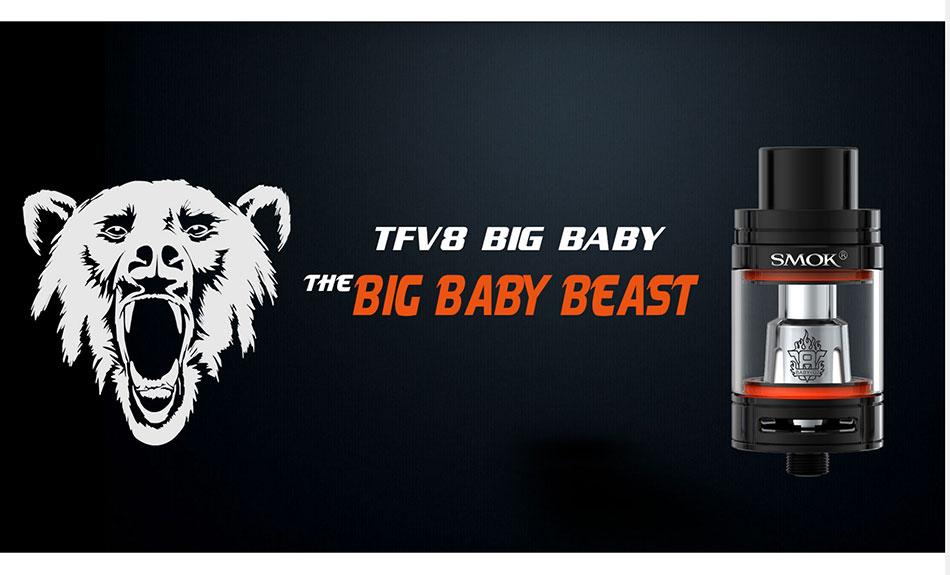 100% Original SMOK GX2/4 TC Vape Kit with 2W/350W Box Mod & TFV8 Big Baby Tank Atomizer Powered by 2/4 18650 Batteries E-cigs 16