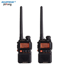 2PCS BaoFeng Pofung UV-3R plus long-range wireless Portable WalkieTalkie Dual band Professional FM transceiver 2 way radio