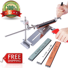 Knife Sharpener Professional RUIXIN PRO III Iron Steel Kitchen Chef Sharpening System Tools Fix-angle With  4 Stone Whetstone