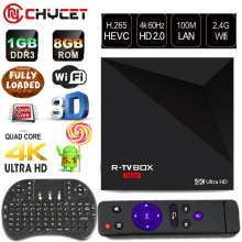 R-TV BOX MINI RK3229 4K Android 5.1 TV Box 1G/8G WiFi LAN Kodi Smart TV IPTV Media Player Set Top Box DLNA Google TV Remote