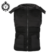 COUTUDI New Men's Vest Winter Jacket 2016 Sleeveless Casual Down Vest Cotton-Padded Jackets High Quality Men's Veste Homme Coat