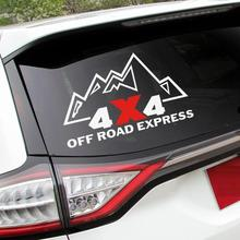 4x4 OFF ROAD EXPRESS design logo automobile sticker for JEEP WRANGLER/AUDI A6L/Q7 and so on,car windows decals vinyl(China)