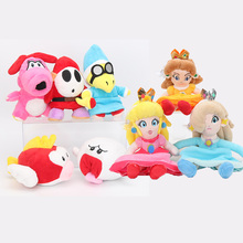 15-20cm Super Mario Bros toys Princess Peach Daisy Rosalina super mario Plush Doll shy guy Birdo Boo Flying fish stuffed Dolls(China)