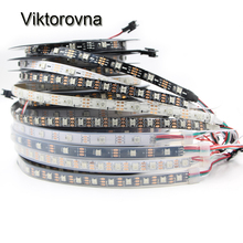 DC5V WS2812B WS2812 led pixel strip 30/60/144 leds/m Smart led pixel tape ribbon lamp Black/White PCB waterproof IP30/IP67 tube