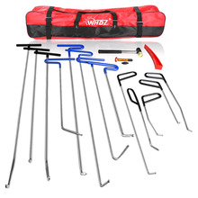 WHDZ PDR Rods Hooks Car Crowbar 16pcs Auto Body Dent Repair Hail Damage Removal Tools PDR Rods Tool for Car Dent Ding Removal