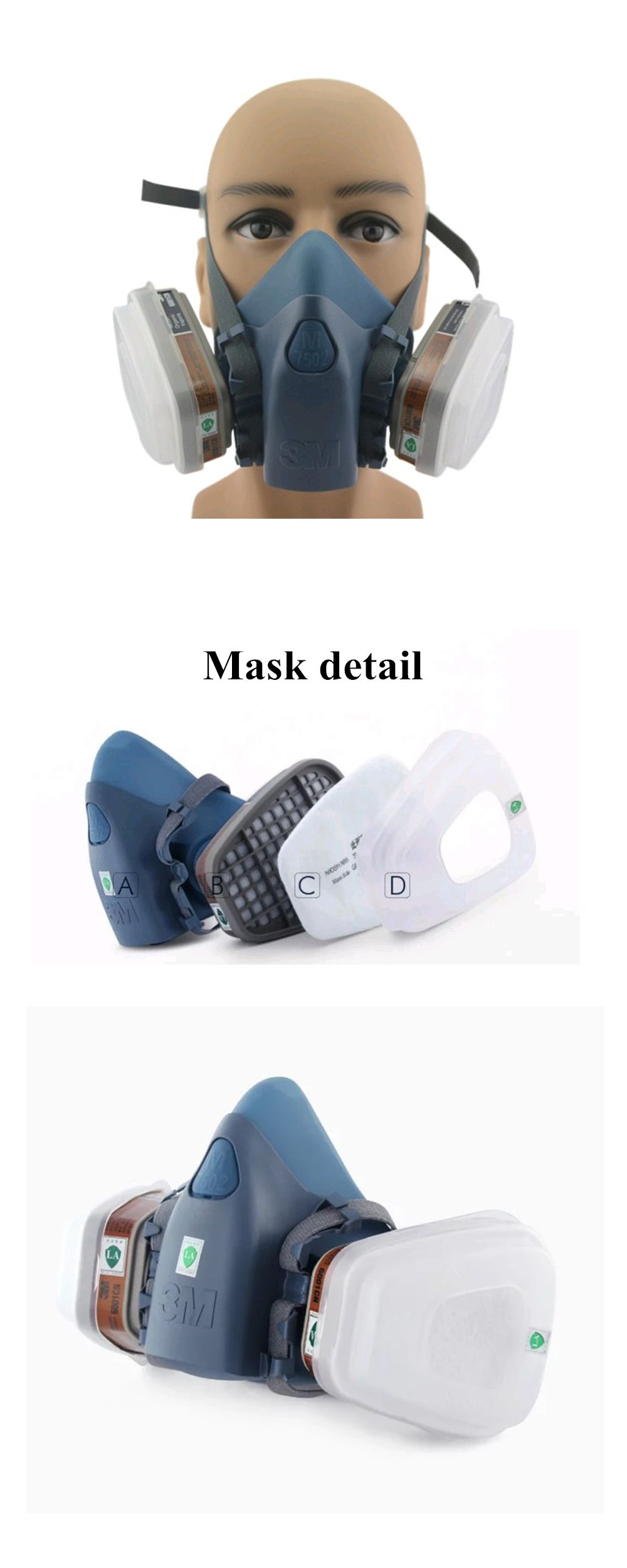 Good quality  respirator gas mask  filter cotton Breathing painting work and dust mask  3M 201706192153QQ