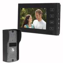 FREE SHIPPING Wired 7 inch Touch Screen Color Monitor Video Doorphone Night Vision Waterproof Camera Intercom System