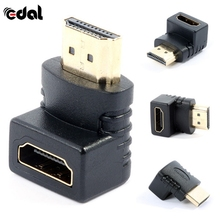 EDAL 90 Degree HDMI Male to Female Plug and Play Connector Adapter For TV HDTV(China)