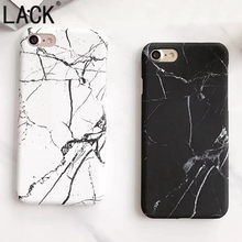Fashion Marble Stone Case For iPhone 7 Case For iphone7 6 6S Plus Back Cover Hard PC Phone Cases black and white Couples Fundas