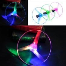 5Pcs/lot large Amazing LED Multicolor Light Arrow Rocket Helicopter rotating Flying Toy Christmas Party Fun Gift