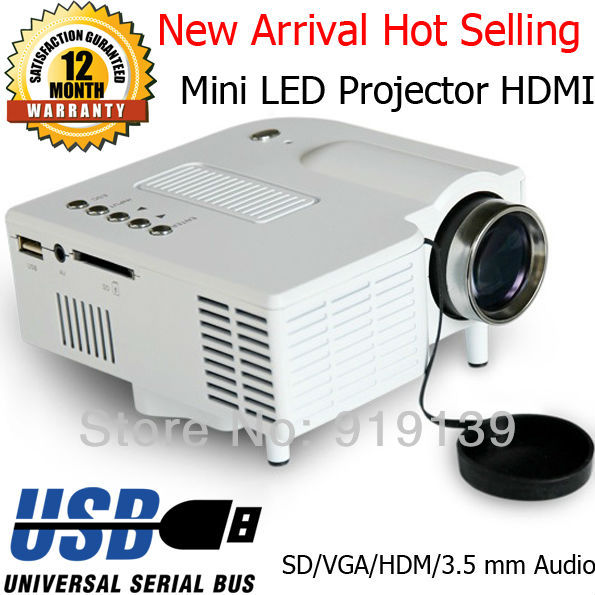 Portable LED Mini Projector HDMI VGA SD Multimedia Display Image Video Projecteur 320x240 Best Kid Game Gifts<br><br>Aliexpress