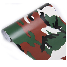 Buy 1 roll Camo Car Sticker Carbon Fiber Motorcycle PVC Vinyl Army Sticker CAMO Woodland Camouflage Sticker Red green 52x60cm for $8.90 in AliExpress store
