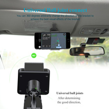 Universal Car Sun Visor Holder Mount Stand For Samsung iPhone Car Mobile Phone Holder GPS PDA MP4 Camera Digital DVR 360 Rotate(China)