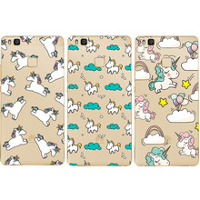 The hottest and most popular Unicorn Anti falling mobile phone shell for For Huawei P8 P8 Lite P9 P9 lite luxury silicone