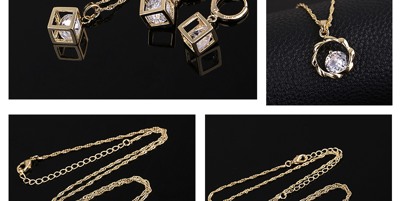 CWEEL Jewelry Sets Fashion African Jewelry Set Nigerian Wedding Zircon Jewerly Sets For Women Gold Color Ethiopian Jewelry (2)