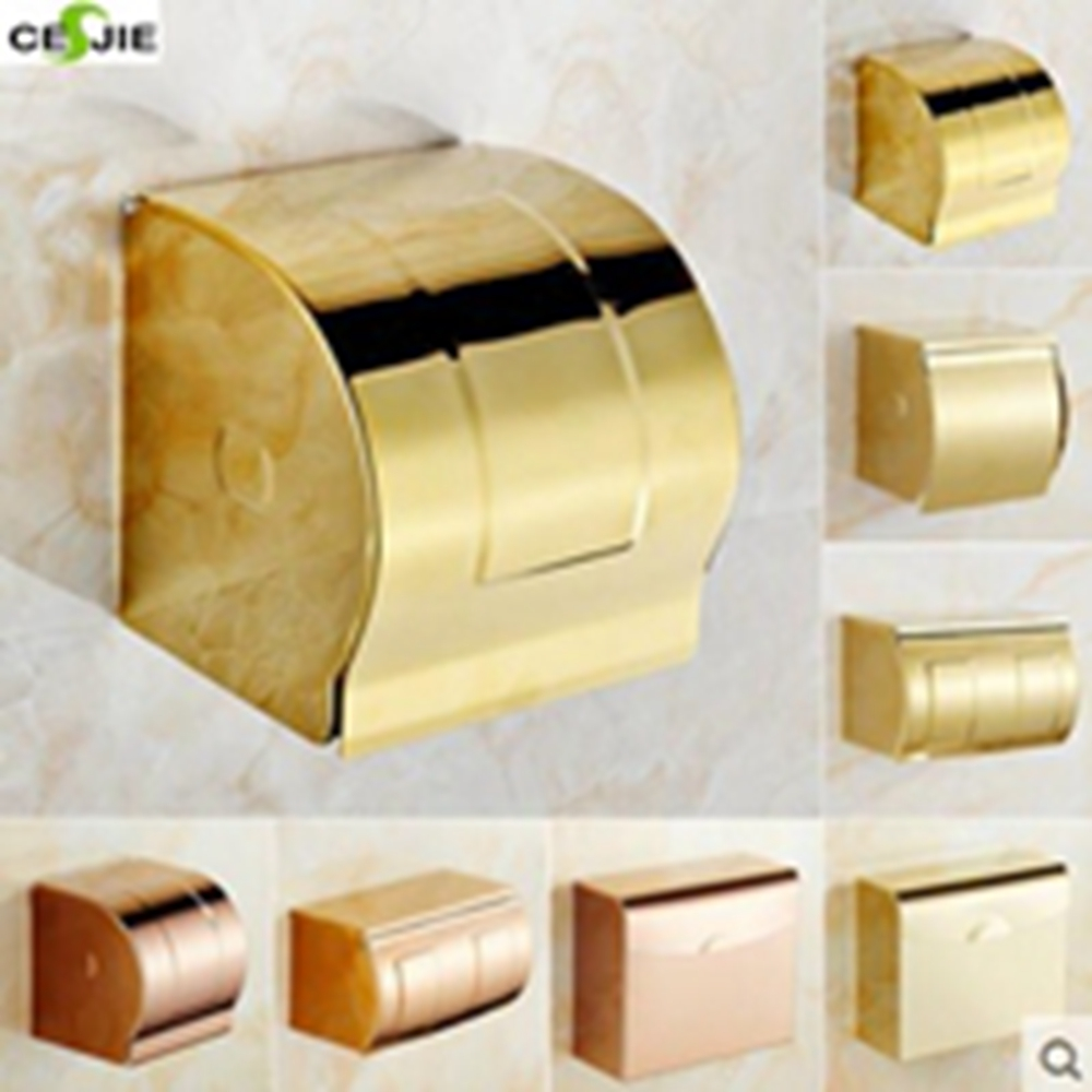 Vanity Wall Mounted Bathroom Shower Tolite Paper Holder Rack Bathroom Accessories<br>