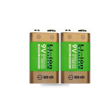 Hot-selling 2pcs/lot 800mAh Li-ion 9 V Rechargeable Batteries For Smoke detectors Wireless Microphones