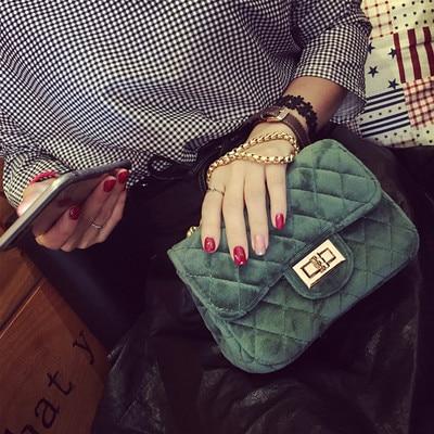 Cecelia Classic Woman Velour shoulder bag female vintage mini flap bag small Quilted handbag<br><br>Aliexpress