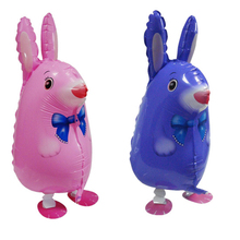 5pcs 63x35cm balon walking animal balloon inflatable rabbit toys party decoration supplies birthday walking rabbit balloons Toys