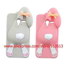 For Alcatel One Touch Pop 3 OT5015 OT5025 3D Rabbit Bunny Silicone Cell Phone Cover Case For Alcatel C5 C7 C9