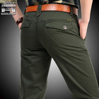 NIANJEEP Brand Big Size 30 40 42 Cotton Pants Casual  Men Clothing Military Army Green   Mens Joggers A3068