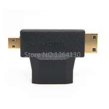 3 in 1 Micro HDMI &Mini HDMI male to HDMI Female adapter Connecter for Android/Tablet/Mobile phone 1080P HDTV(China)