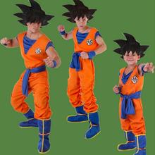 2016 Japanese Anime Dragon Ball Goku Cosplay Costume Kids Cute Goku Outfits Halloween Costumes Kid Abult Parent child clothing