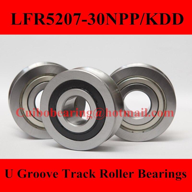 Free Shiping 1PCS LFR5207-30KDD  LFR5207-30NPP Groove Track Roller Bearings size:30*80*29mm<br>