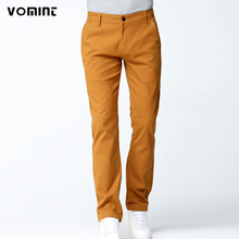 VOMINT 2017 New Mens Casual Business Pant Stretch Elastic Fabric Slim Straight Pant Black Blue Khaki Big Size 44 46 V7S1P007(China)