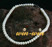 FREE SHIPPING 7-8mm Fresh Water Pearl Necklace Hot Cheap Fashion Jewellery Nice Jewelry  Good Gift on sale!!!