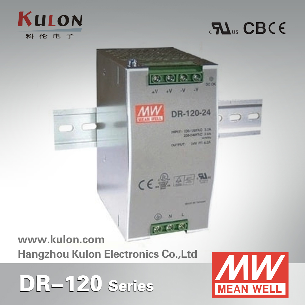 Genuine Mean Well DR-120-24 120W Single Output Industrial DIN Rail Power Supply 120W 24V 5A power supply<br>