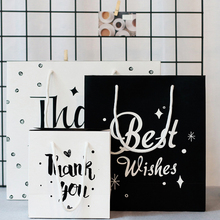 1PC Party Bags Kraft Letter's Lover Paper Gift Bag With Handles Shop Loot Bag Best Wishes Festive Party Supplies(China)
