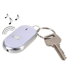 LED Key Finder Locator Find Lost Keys Chain Keychain Whistle Sound Control Free shipping