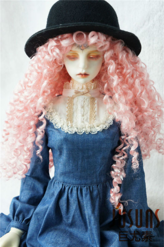 8-9inch Long Curly Princess Mohair Doll Wigs Soft 1//3 BJD Doll Wig 5 color JD187