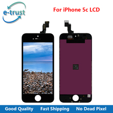 e-trust No Dead Pixel For iPhone 5C 4 inch LCD Display Touch Screen Digitizer Assembly Replacement AAA+ Quality + Free Shipping