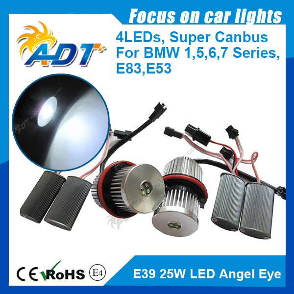 factory price 1set LED Crees marker for BMW E87/E39 M5/E60 M5/E61/E63/E64/E65/E66/E83 X3/E53 X5 25W bright Angel Eyes Headlight<br><br>Aliexpress