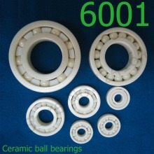 1PCS Quality non-magnetic insulating 6001 mm full ceramic zirconia oxide all ceramic ball bearing of ZrO2 material 12*28*8 mm
