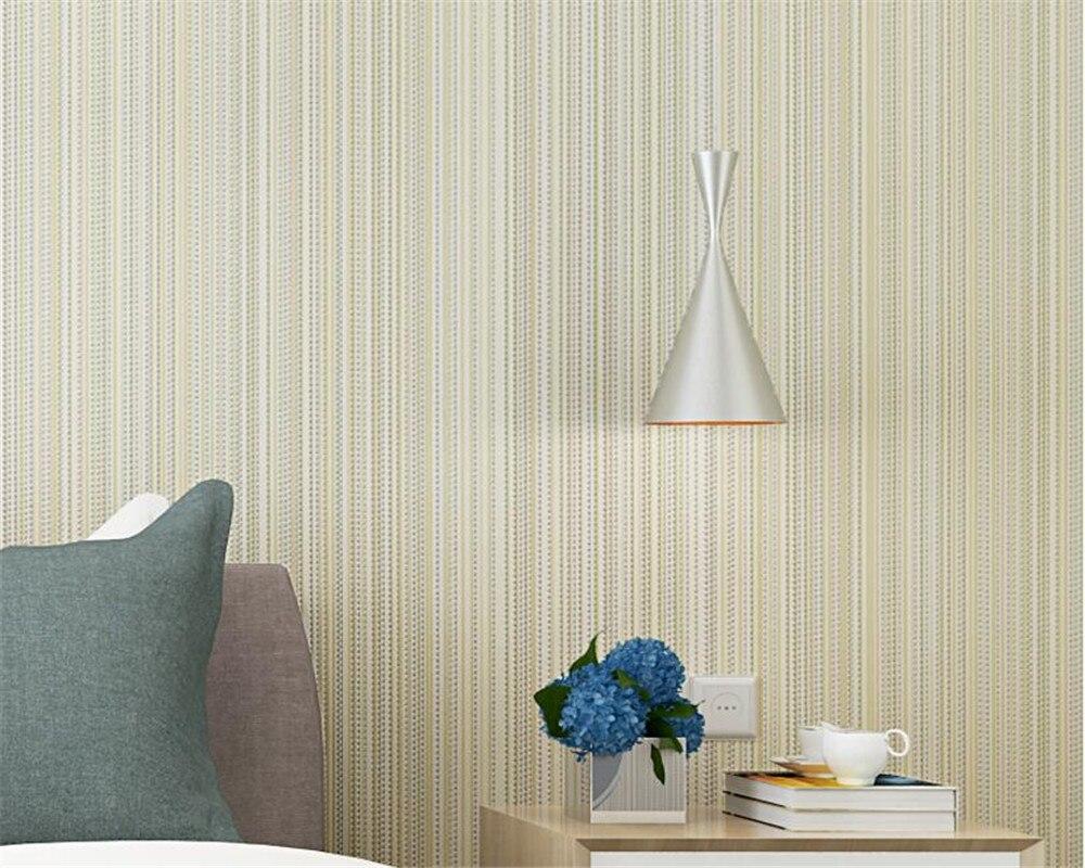 Beibehang Wallpaper modern solid color vertical stripes beige wall paper bedroom living room hotel z decorative 3d wallpaper<br>