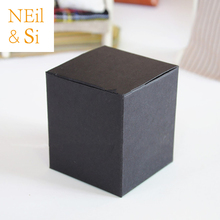 Black Paper Box for Manual Cream Bottle Wedding Favor Gift Candy Packaging Boxes Free Shipping(China)