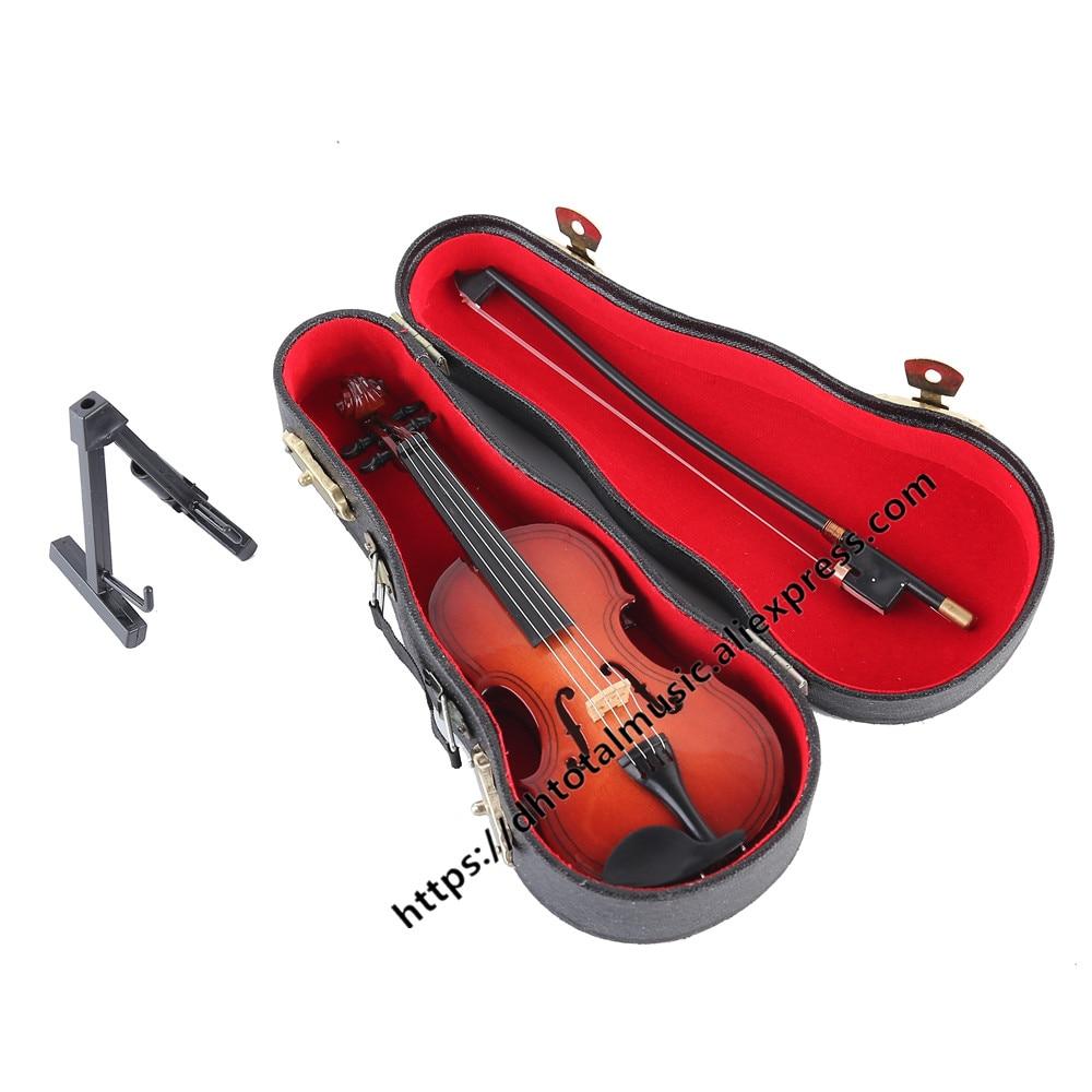 Confident New Hot Sale Miniature Music Instrument Plastic Mini Violin Dollhouse Decorative Ornaments Plastic Crafts Diy Home Decoration Home