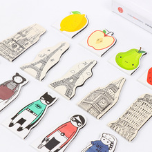 5pcs/lot Cartoon Towel Fruit Magnetic Bookmarks For Books Bookmarkers Book Mark Clips For Office Teacher Gift  Stationary Paper
