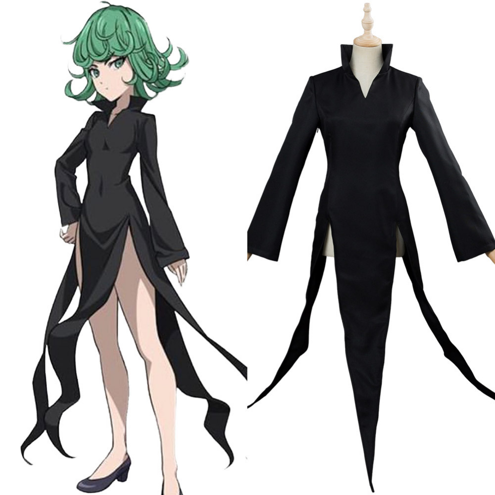 Anime ONE PUNCH MAN Tatsumaki Cosplay Costume Halloween Carnival Costume For Adult Women Custom