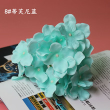 10 Pcs/lot 15cm White Tiffany Blue Large Hydrangea Silk Flowers Heads for Wedding Party DIY