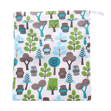 Baby Waterproof Diaper bag with Zipper for Baby Carrier (Owl and tree Print)(China)