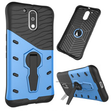 For Motorola Moto G4/G4plus Phone Case Shockproof 360 rotating swivel bracket Netted heat dissipation Armor Phone Case Cover